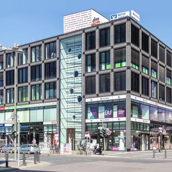 Geschäftshaus Berlin Wilmersdorf - Naursteinfassade
